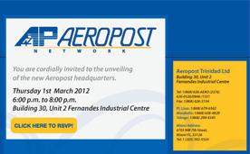 Aeropost Headquarters Launch Invitation Email Blast