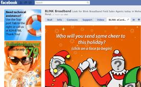 Blink Broadband Facebook Application