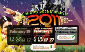 Blink Broadband Chutney Soca Monarch 2011 Website