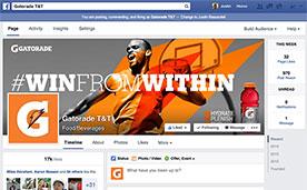 Gatorade T&T Facebook Page