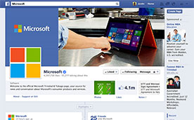 Microsoft T&T Facebook Page